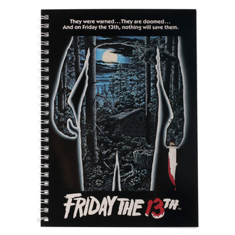 Pisalni notesnik Friday the 13th - Movie Poster, NNM, Friday the 13th